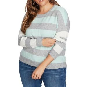 Court & Rowe Striped Sweater Crew Neck Pullover XL
